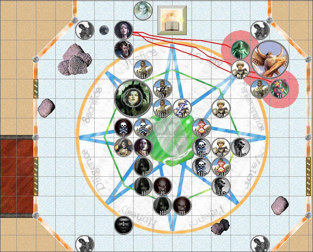 The Player Character Worktable DarkSorceressBattle