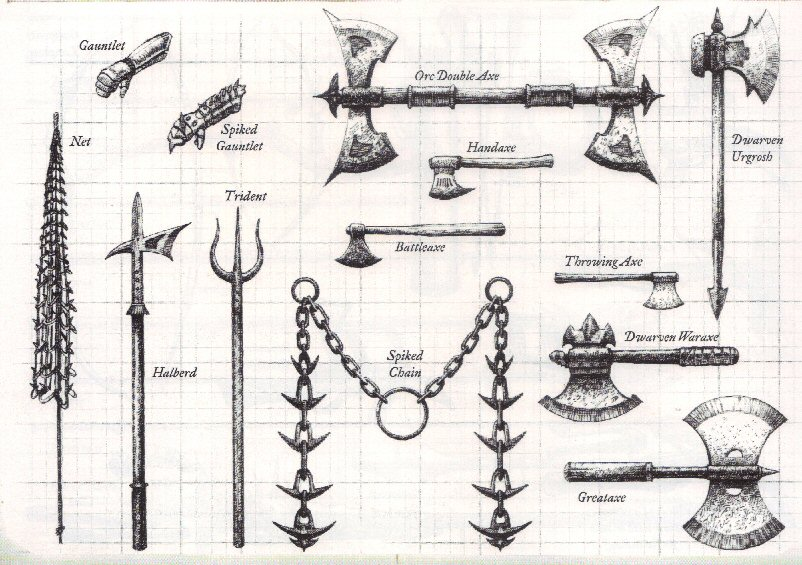 Arms, Armor, Attire and Artifacts DnDWeapons5
